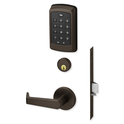Yale nexTouch Sectional Mortise Lock Pushbutton Keypad with Cylinder Override and Zigbee Module, Dark Oxidized Bronze