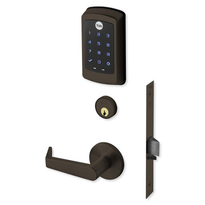 Yale nexTouch Sectional Mortise Lock Touchscreen Keypad with Cylinder Override and Zigbee Module, Dark Oxidized Bronze