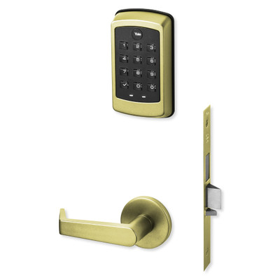 Yale nexTouch Sectional Mortise Lock Pushbutton Keypad, Deadbolt with Thumbturn and Zigbee Module, Bright Brass