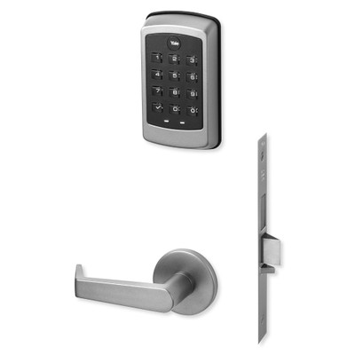 Yale nexTouch Sectional Mortise Lock Pushbutton Keypad, Deadbolt with Thumbturn and Zigbee Module, Satin Chrome Plated