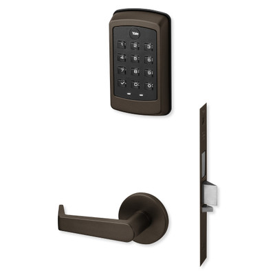 Yale nexTouch Sectional Mortise Lock Pushbutton Keypad, Deadbolt with Thumbturn and Z-Wave Module, Dark Oxidized Bronze