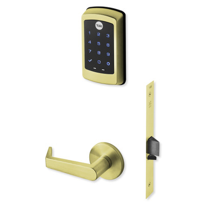 Yale nexTouch Sectional Mortise Lock Touchscreen Keypad and Zigbee Module, Bright Brass