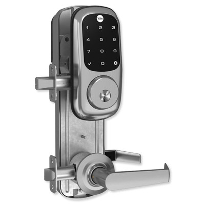 Yale Z-Wave Assure Interconnected Lockset with Touchscreen Deadbolt, Augusta Lever, Right Handed, Satin Nickel