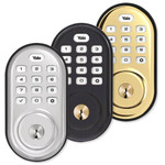 Yale Zigbee Push Button Deadbolt Assure Lock (Gen5), Bright Brass