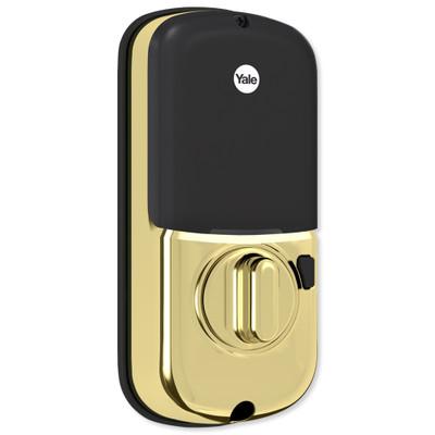 Yale Touchscreen Deadbolt Assure Lock, Connected by August, Bright Brass (Open Box)