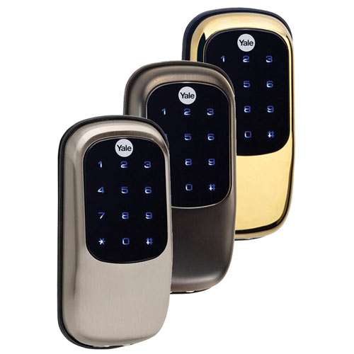 Yale Z-Wave Key Free Touchscreen Deadbolt, Bright Brass