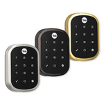 Yale Z-Wave Assure SL Key Free Touchscreen Deadbolt, Bright Brass