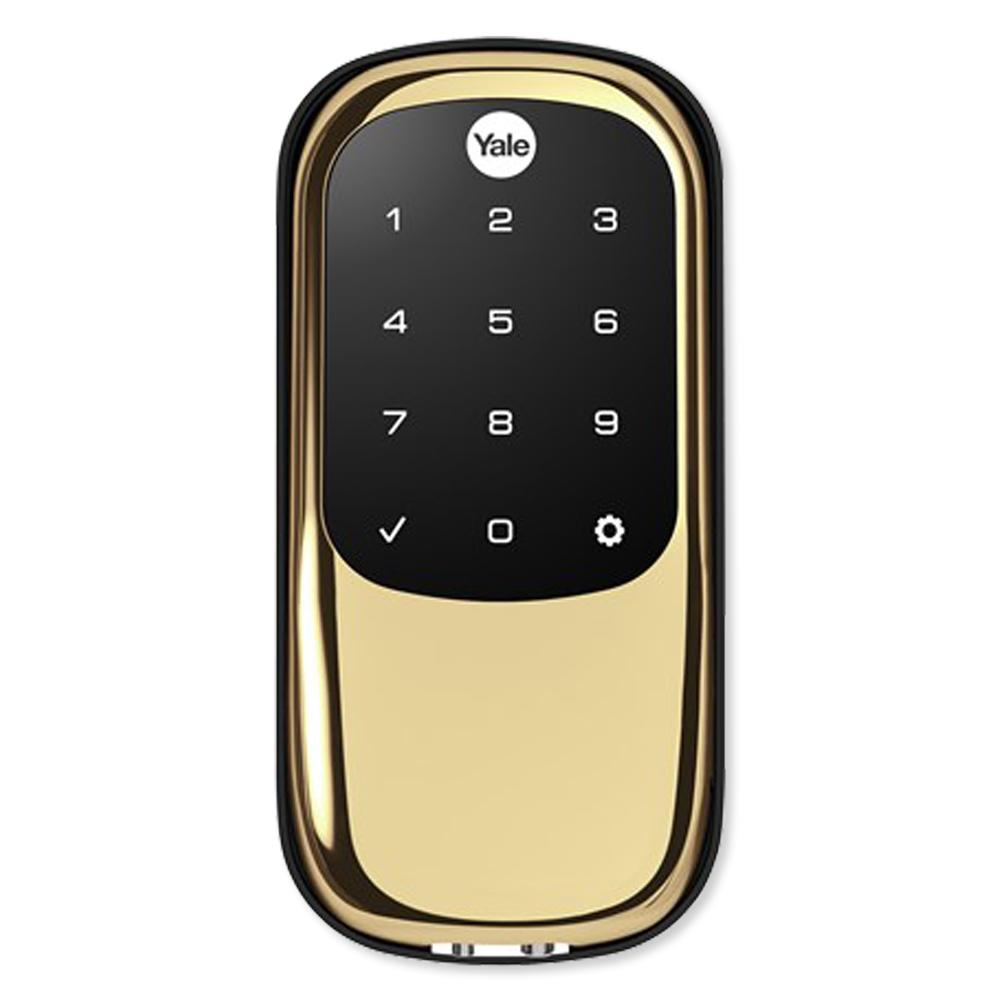 Yale Z-Wave Touchscreen Deadbolt Assure Lock with Bluetooth, Bright Brass