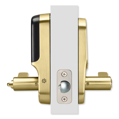 Yale Z-Wave Plus Assure Touchscreen Keypad Lever Lock, Polished Brass