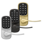 Yale Assure Lever Z-Wave Plus Push Button Leverset, Bright Brass