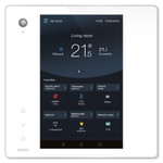 Zipato ZipaTile2 Z-Wave Home Automation Controller, White Touch Panel with Silver Frame (Open Box)