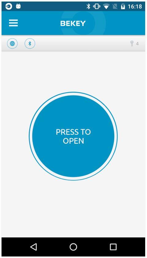 Bekey orangebox bluetooth access control receiver for App to open garage door