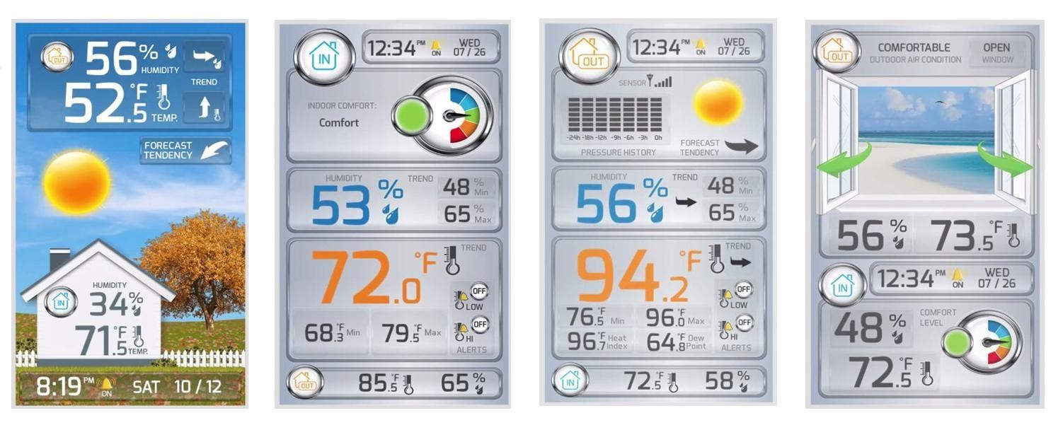 La Crosse Wireless Color Weather Station Display Modes