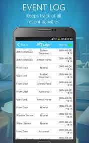 SkylinkNet   App Event Log Screen