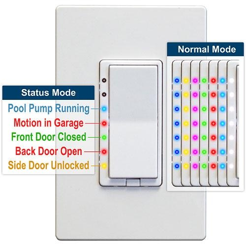 HomeSeer Z-Wave Plus Scene Capable RGB Dimmer Wall Switch