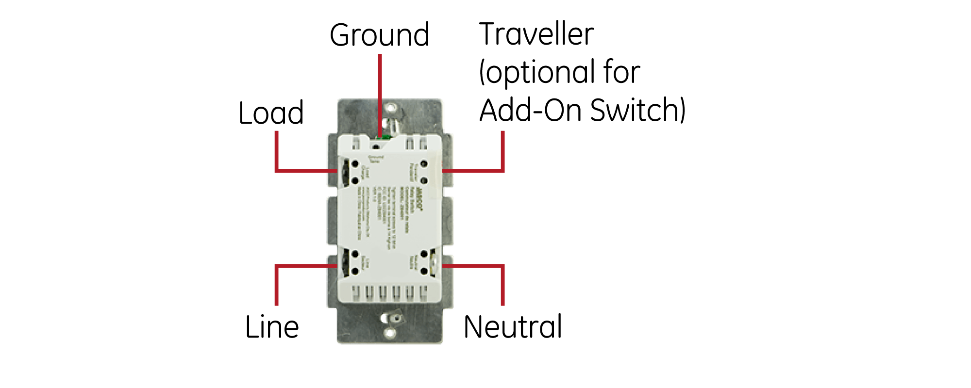 Wiring Diagram | GE Zigbee Smart Wall Switch