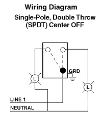 leviton single-pole ac quiet toggle switch, momentary ... double pole double throw diagram