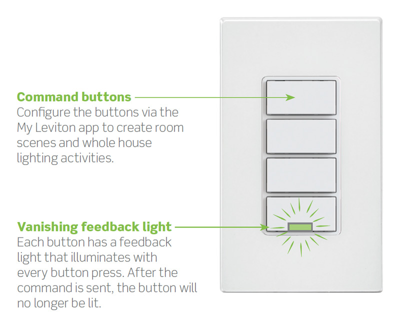 Leviton Decora Smart Wi-Fi Controller Interface