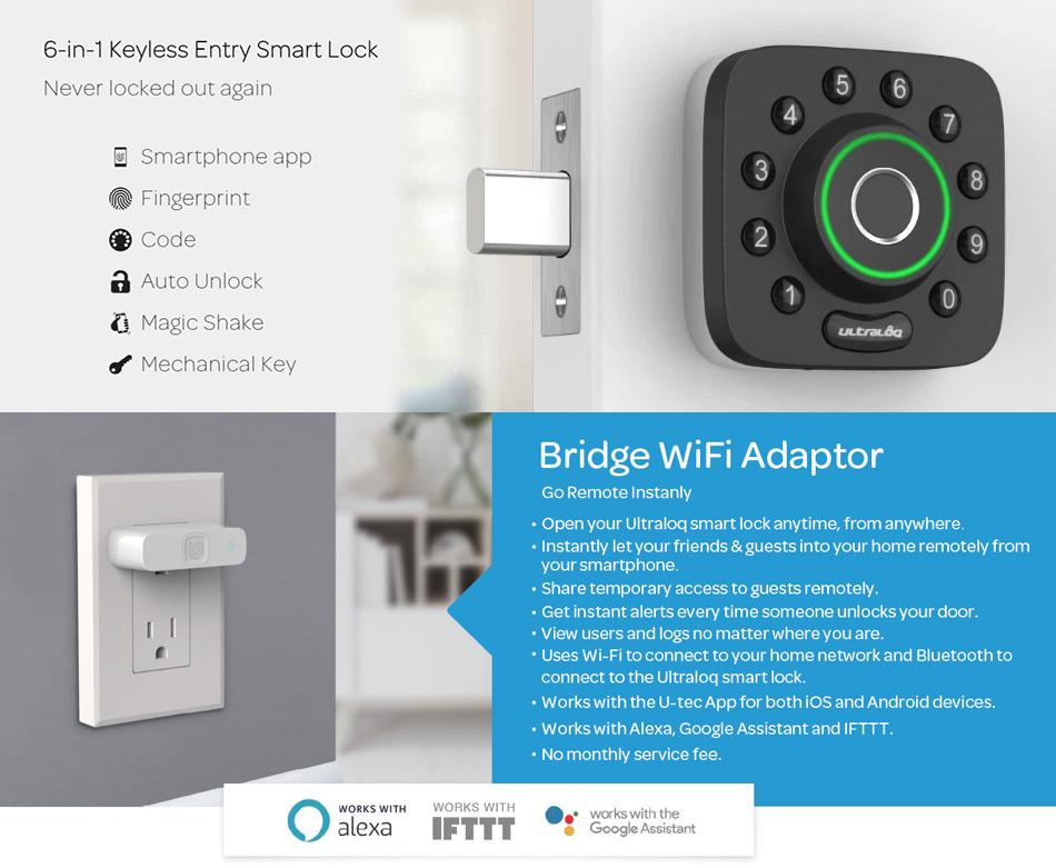 U-tec Ultraloq 6-in-1 Keyless Entry Wi-Fi Bridge